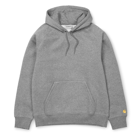 Carhartt Bluza Hooded Chase Sweatshirt Grey Heather/Gold - SS19