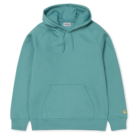 Carhartt Bluza Hooded Chase Sweatshirt Soft Teal/Gold - SS18