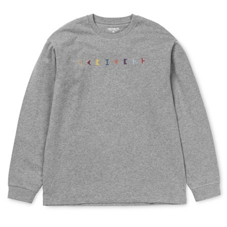 Carhartt Longsleeve L/S Horizontal Dark Grey Heather - FW18