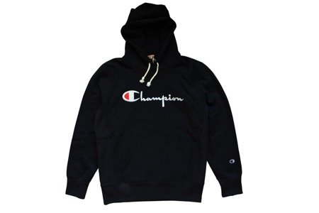 Champion Bluza Reverse Weave Big Logo Hooded Sweatshirt Black - FW18