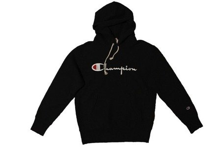 Champion Bluza Reverse Weave Big Logo Hooded Sweatshirt Black - SS20
