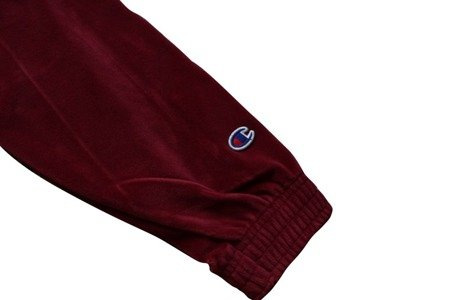 Champion Bluza Reverse Weave Oversize Hooded Sweatshirt Velour Burgundy - FW18