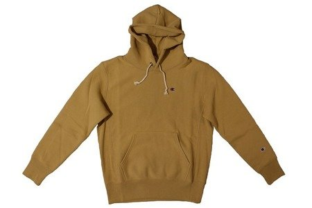 Champion Bluza Reverse Weave Small Logo Hooded Sweatshirt Mustard