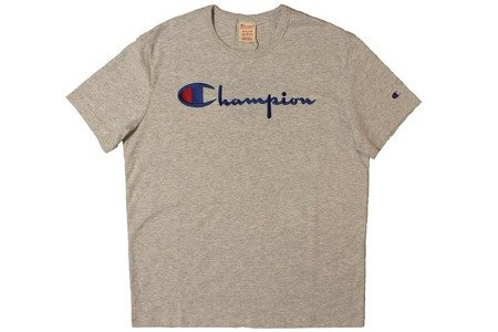 Champion Koszulka Reverse Weave Big Logo T-Shirt Grey Heather
