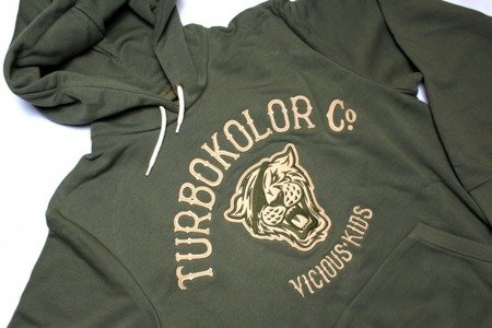TURBOKOLOR Bluza Tiger Hoodie - Green - FW16
