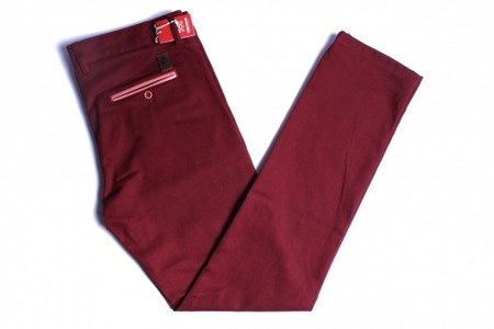 TURBOKOLOR Spodnie Chinos Super Slim-Fit - Burgundy - FW14
