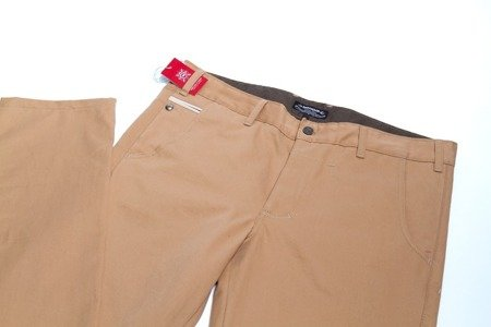 TURBOKOLOR Spodnie Chinos Super Slim-Fit - Khaki - FW14