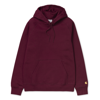 Carhartt Bluza Hooded Chase Sweatshirt Cranberry/Gold - SS19